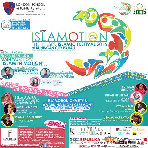 "Islamotion ""The 1st LSPR Islamic Festival 2016"""