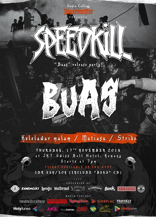 """Speedkill """"Buas"""" Release Party!"""