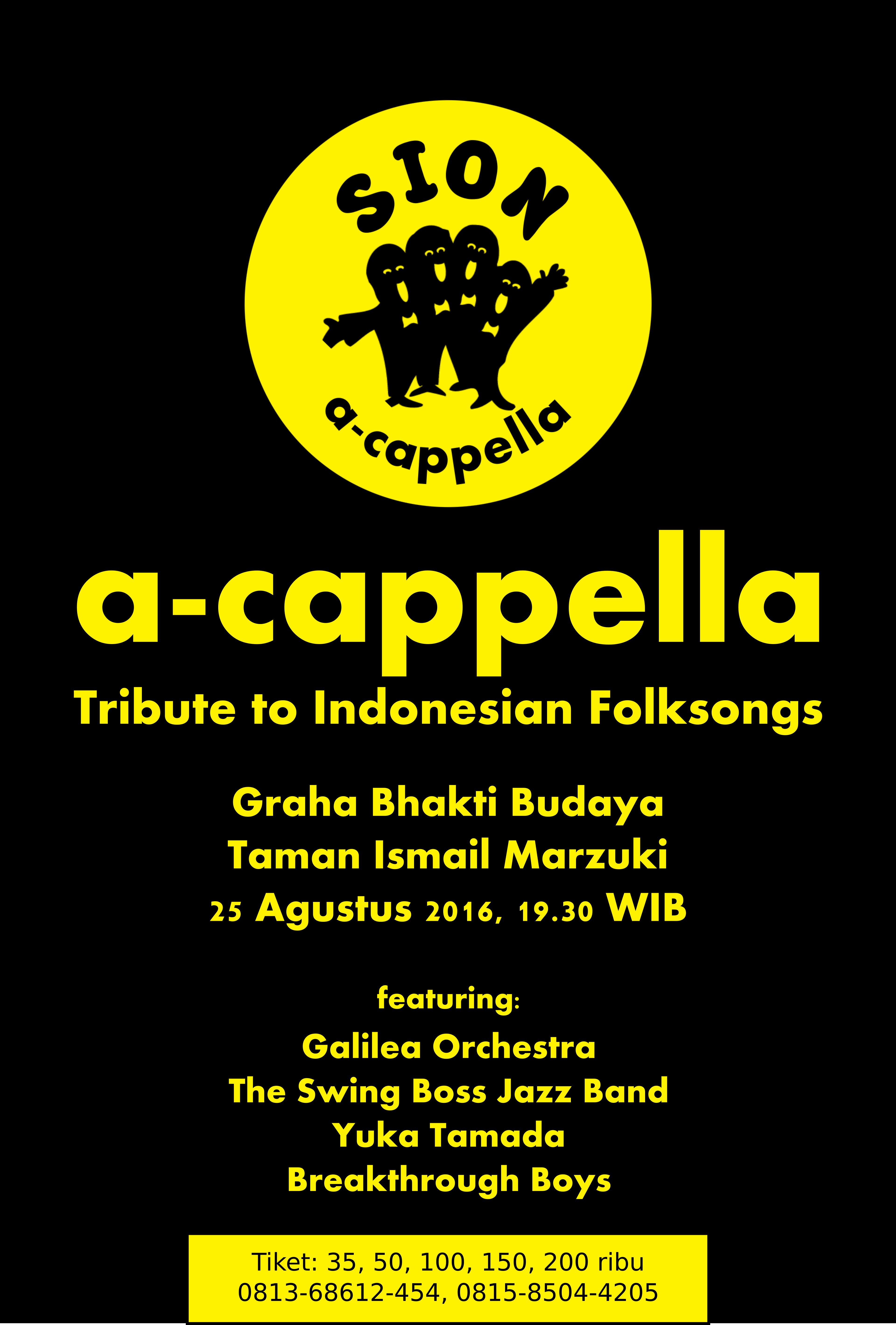 a-cappela tribute to Indonesian Folksongs