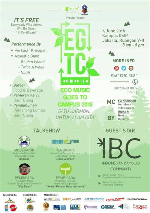 EGTC, Eco Music Goes To Campus