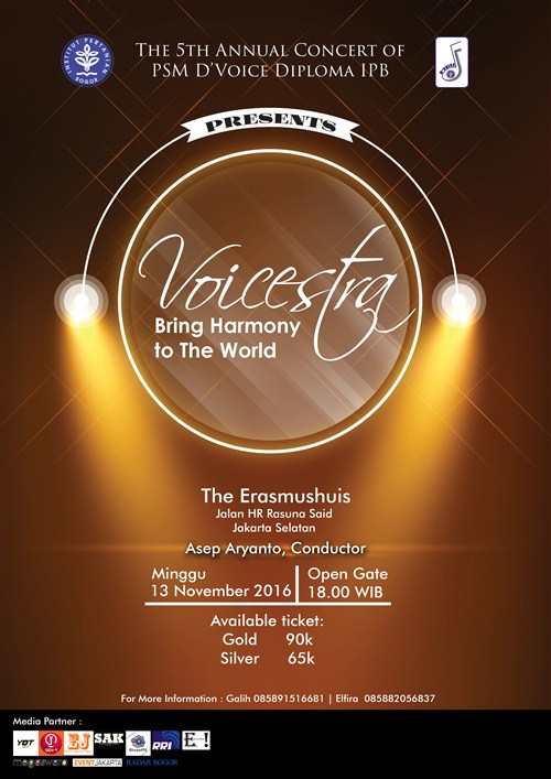 """The 5th Annual Concert : VOICESTRA """"Bring Harmony to The World"""""""