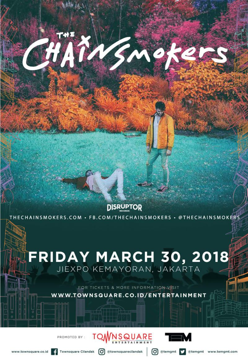 Chainsmokers Concert at Jakarta