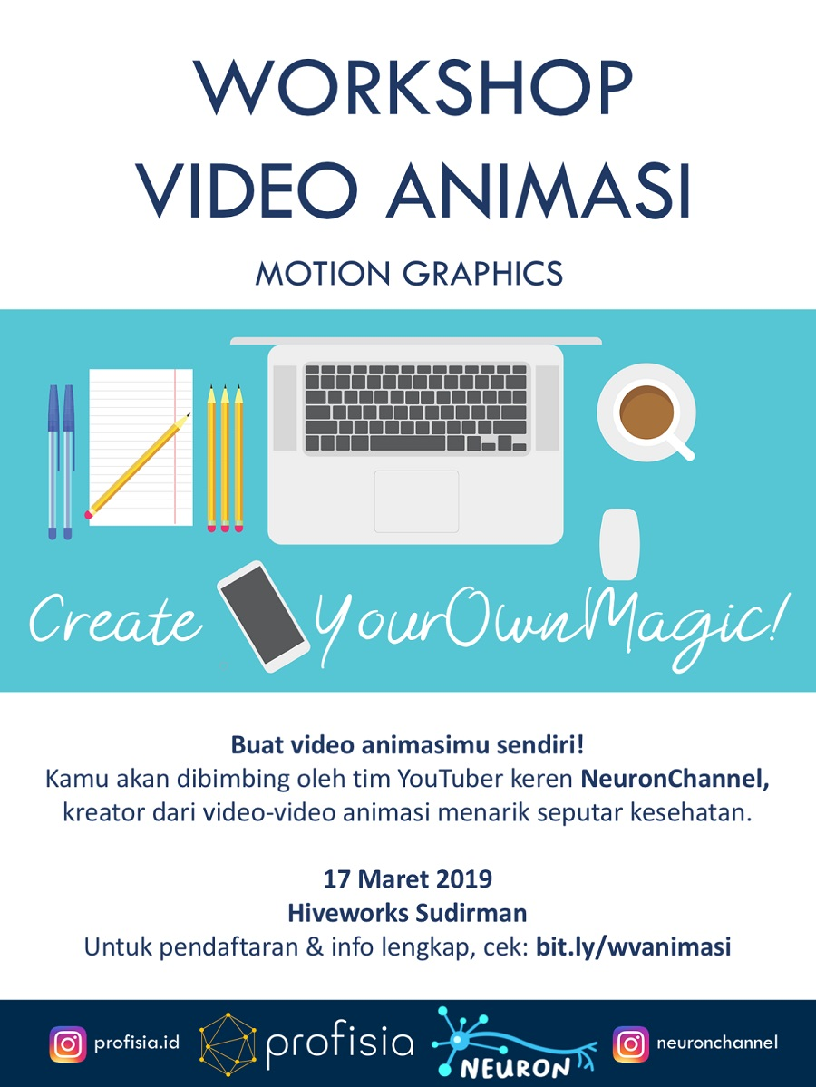 Workshop Video Animasi Motion Graphics bersama YouTuber NeuronChannel