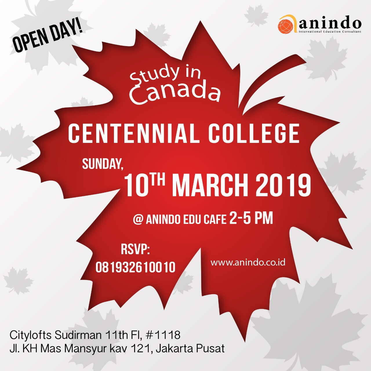 Info Session (Study, Work, and Live in Canada with Centennial College Canada)