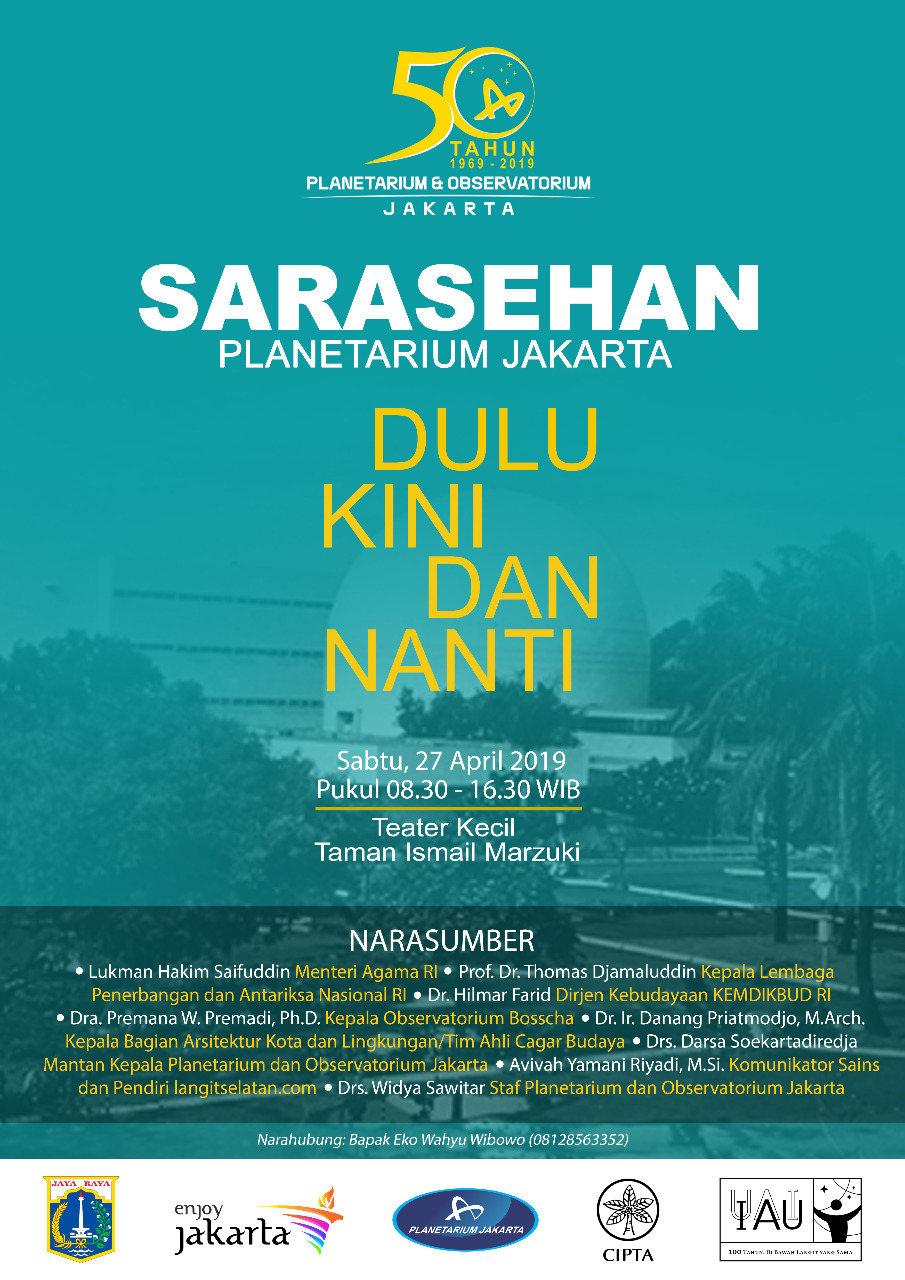"Workshop of the Jakarta Planetarium ""FIRST AND LATER"""