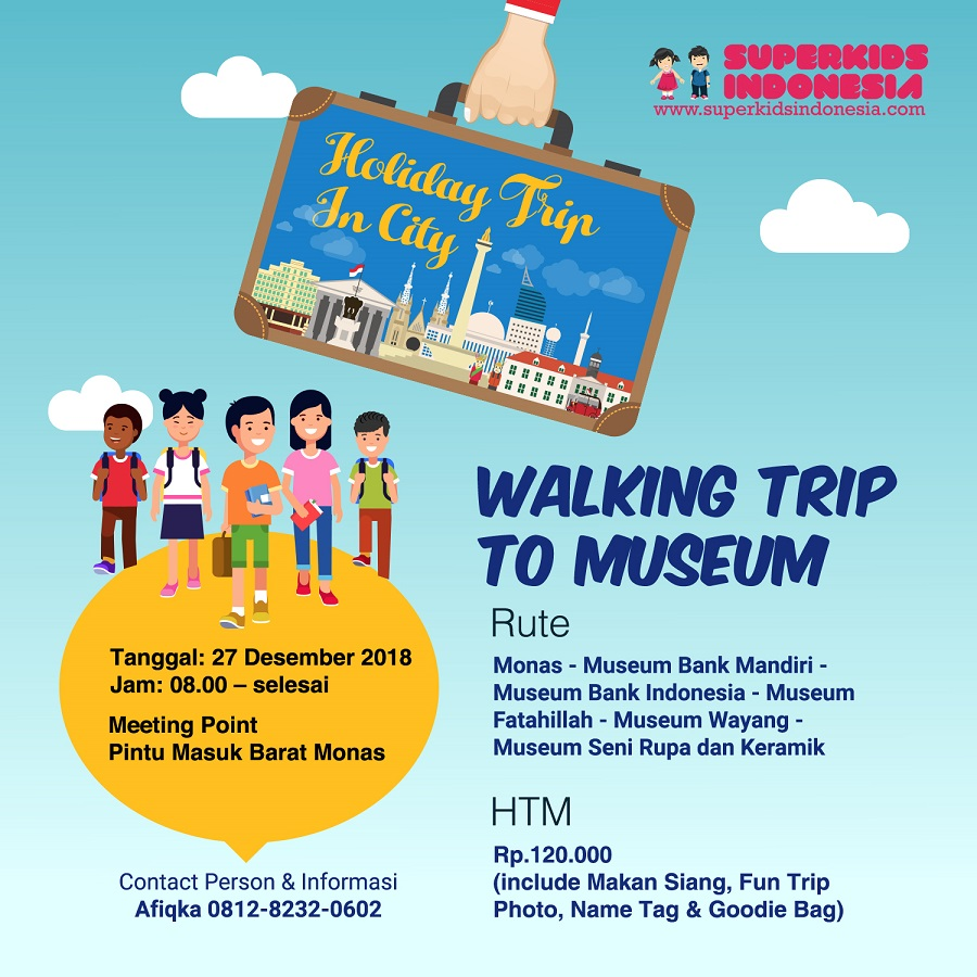Superkids Holiday Trip in City – Walking Trip to Museum